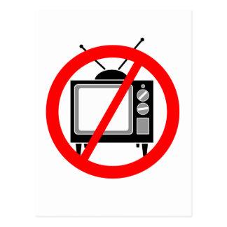 NENHUMA tevê - televisão propaganda brainwashing m Cartoes Postais