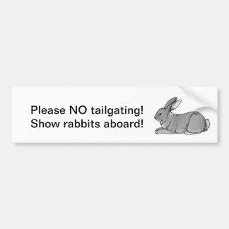 Nenhuma utilização não autorizada, coelhos da most adesivo para carro