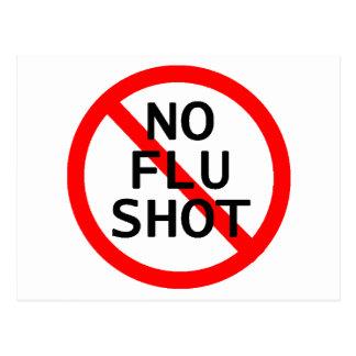 Nenhuma vacina contra a gripe cartões postais