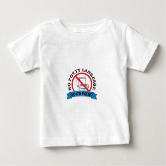 nenhuma zona da língua do potty camiseta para bebê