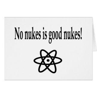 Nenhumas armas nucleares cartão
