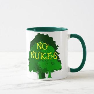 Nenhumas armas nucleares com a caneca de café