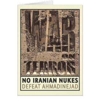 Nenhumas armas nucleares iranianas cartao