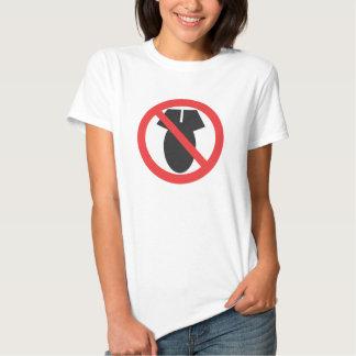 Nenhumas armas nucleares - nenhuma Guerra da T-shirt