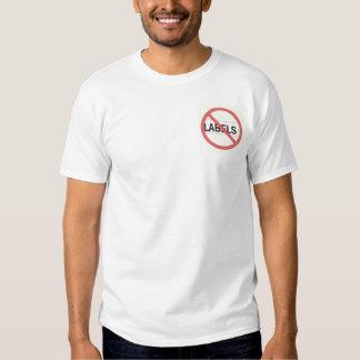Nenhumas etiquetas camisetas