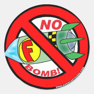 Nenhumas etiquetas da F-Bomba Adesivo Redondo