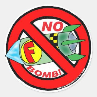 NENHUMAS ETIQUETAS DE F-BOMB ADESIVO