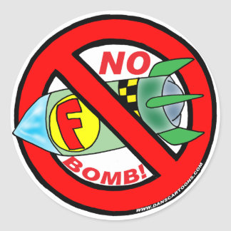 NENHUMAS ETIQUETAS DE F-BOMB ADESIVOS EM FORMATO REDONDOS