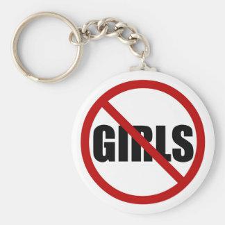 Nenhumas meninas permitidas o chaveiro da