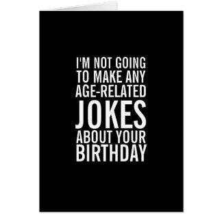 Nenhumas piadas sobre seu cartão engraçado da