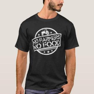 Nenhuns fazendeiros nenhuma comida camiseta