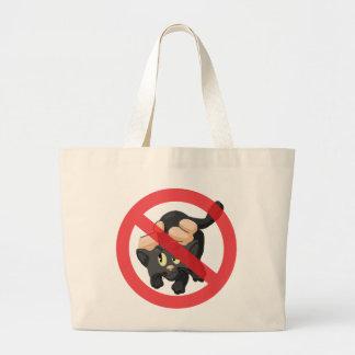 Nenhuns gatos bolsa de lona