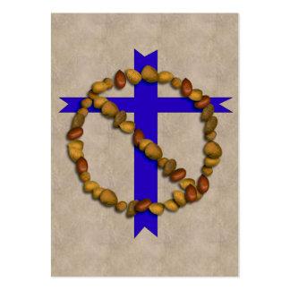 Nenhuns loucos cristãos cartão de visita grande