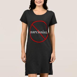 Nenhuns Narcissists - vestido ocasional do algodão
