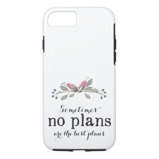Nenhuns planos florais - capa de telefone
