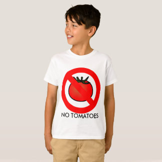 Nenhuns tomates t-shirt, miúdos camiseta