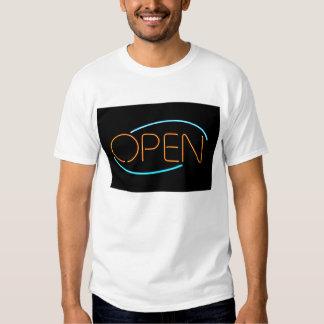 Néon aberto t-shirts
