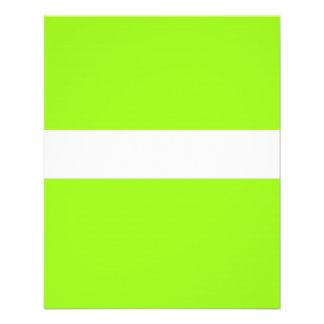 Néon chartreuse AJUSTÁVEL & insecto branco Panfletos Coloridos