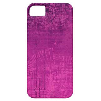 Nerd cor-de-rosa fúcsia do geek do computador de capas para iPhone 5