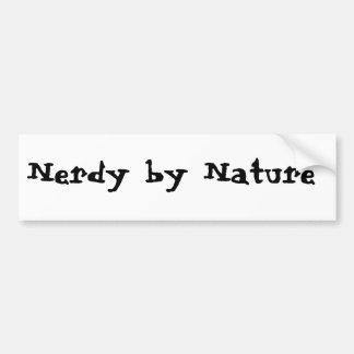 Nerdy por natureza adesivo para carro