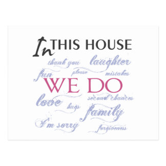 Nesta casa nós amamos o cartão