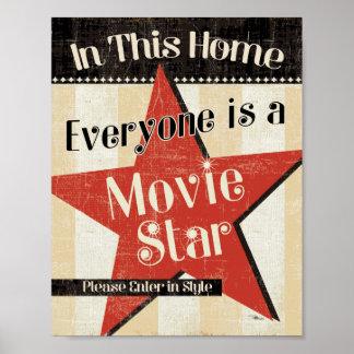 Nesta casa todos é uma estrela pôster