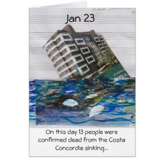 neste dia cartão do 23 de janeiro