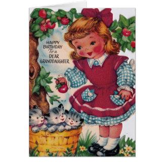 neta do feliz aniversario do vintage dos anos 30 cartão