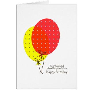 Neta em balões dos cartões de aniversário da lei