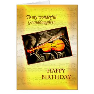 Neta, um cartão de aniversário com um violino