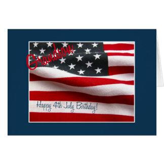 Neto aniversário feliz do 4 de julho cartão comemorativo