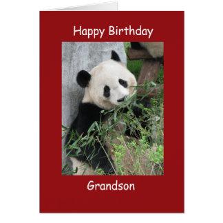 Neto da panda gigante do cartão do feliz