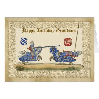 Neto do aniversário, cavaleiros que Jousting, Cartao