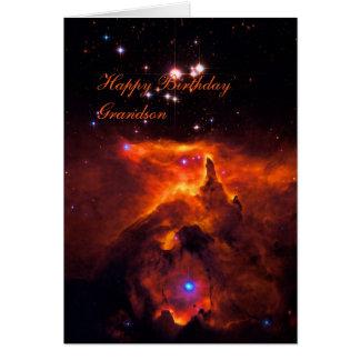 Neto do feliz aniversario - conjunto de estrela cartão comemorativo