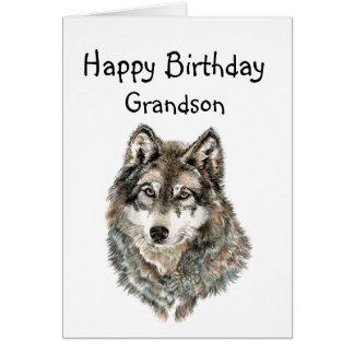 Neto do feliz aniversario, lobo do humor, lobos cartão comemorativo