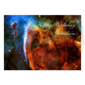 Neto do feliz aniversario - nebulosa do buraco da cartão comemorativo