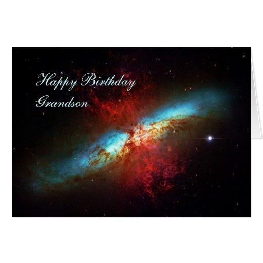 Neto do feliz aniversario - uma galáxia de cartão