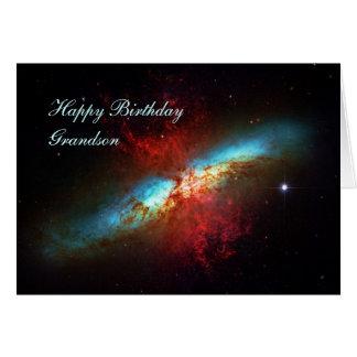 Neto do feliz aniversario - uma galáxia de cartão comemorativo
