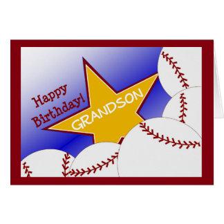 Neto - neto Loving do basebol do feliz aniversario Cartão Comemorativo
