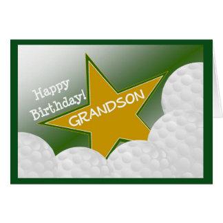Neto - neto Loving do golfe do feliz aniversario! Cartão Comemorativo