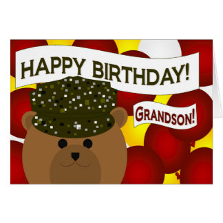 Neto - soldado do exército do feliz aniversario! cartão comemorativo