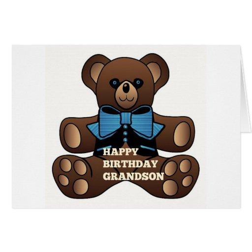 Neto Teddybear do feliz aniversario Cartoes