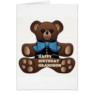 Neto Teddybear do feliz aniversario Cartão Comemorativo