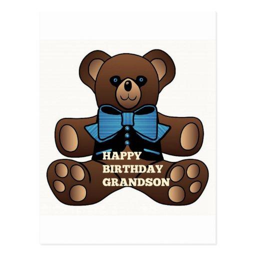 Neto Teddybear do feliz aniversario Cartao Postal