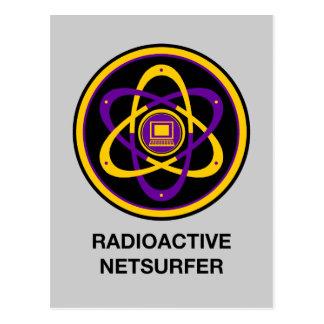 Netsurfer radioativo cartão postal