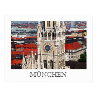 Neues Rathaus, cartão de Munich