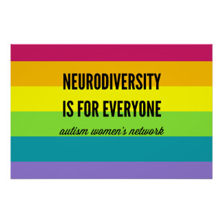 Neurodiversity é para todos poster (o arco-íris)
