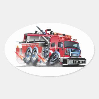 neutralização do firetruck adesivo oval