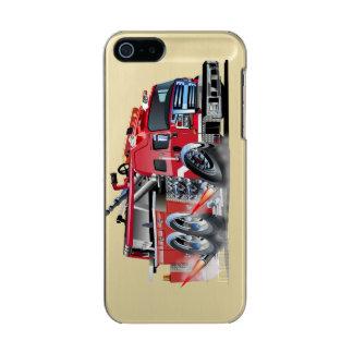 neutralização do firetruck capa metálica para iPhone SE/5/5s