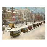 Neve 1895 da rua do canal de Nova Orleães Cartao Postal